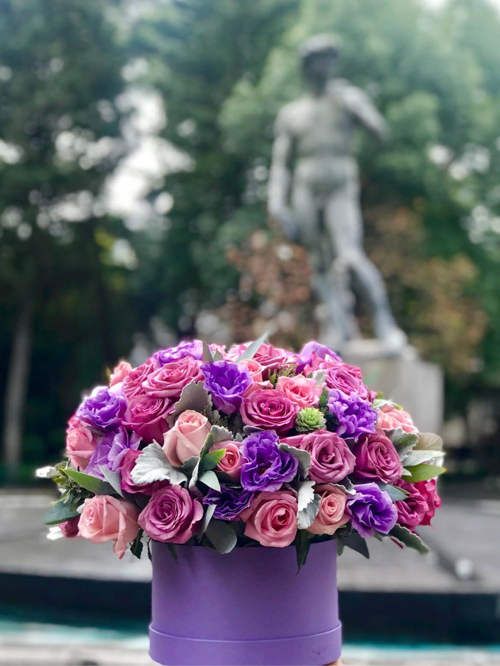 Verona - arreglo de 50 rosas